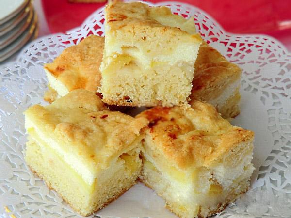 Рецепт песочного теста для пирога с творогом и яблоками с